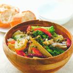 【つながるキッチン】静岡県沼津市 おだしドレッシングの春野菜サラダ