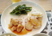 簡単おいしいおすすめレシピ!鶏肉と長芋の揚げ・えんどうのゴマ和え