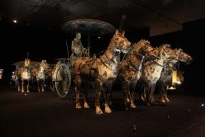 銅車馬は複製が展示