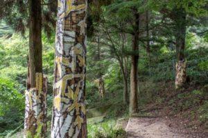 公募大賞グランプリを受賞した川田知志「六甲高山森林内壁画」