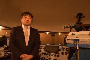 解説員の中島健次さんは、プラネタリウムで行った自らの結婚式をプロデュースした経験も