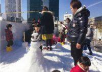 うめきたガーデンに「雪だるま」の庭 2月の土日はホンモノの雪もお出迎え