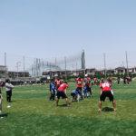 子どもたちにスポーツの楽しさを 大阪経済大学「キッズカレッジ2017」 5月はフラッグフットボール教室