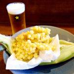飛び切り甘いトウモロコシを肴に生ビール<br/>【たいのたい】兵庫県西宮市