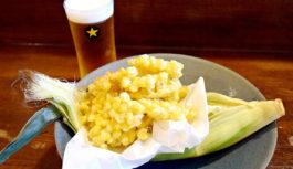 飛び切り甘いトウモロコシを肴に生ビール【たいのたい】兵庫県西宮市