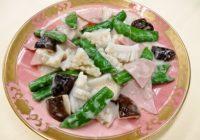 旬の食材を使った簡単料理レシピ「スナップエンドウとイカのミルク炒め」