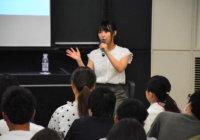 元NMB48の島田玲奈さん カフェ開業ノウハウを学生に指南大阪学院大学で起業セミナー