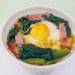 旬の食材を使った簡単料理レシピ<br/>「ホウレンソウの巣ごもり」