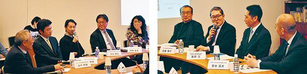 施設の代表者たちが中之島の文化の可能性について語り合った