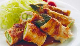 旬の食材を使った簡単料理レシピ「アスパラガスの豚ロース肉巻き」