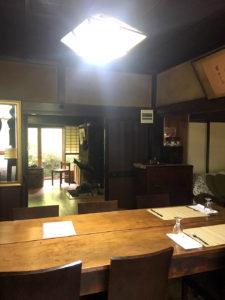 古民家を改装して民宿とレストランにした