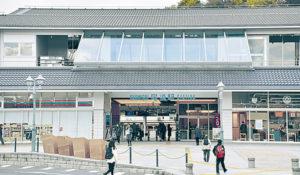 今年3月に新駅舎が開業した尾道駅