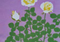 日本画と染色 伊丹のギャラリーで親子二人展1月13日(月・祝)まで ワークショップも