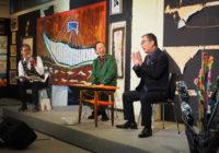 初日には旧友・桂文枝さんとのトークも。81歳の現在地を表現した「絵で行けるとこ 黒田征太郎展」開催中