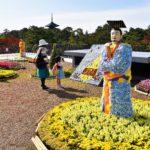 天平大菊人形展と奈良大和四寺巡礼パネル展<br />奈良公園バスターミナルで 11月8日まで