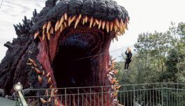 全長約120メートル ゴジラが襲撃!? 淡路島「ニジゲンノモリ」に新アトラクション