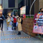 ミャンマーで民主化求める公務員に支援を<br />大阪・梅田で学生団体が募金活動