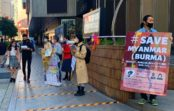 ミャンマーで民主化求める公務員に支援を大阪・梅田で学生団体が募金活動